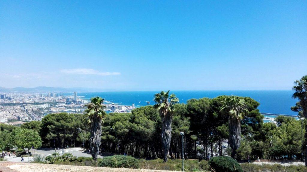 Výhled z Montjuïc Castle