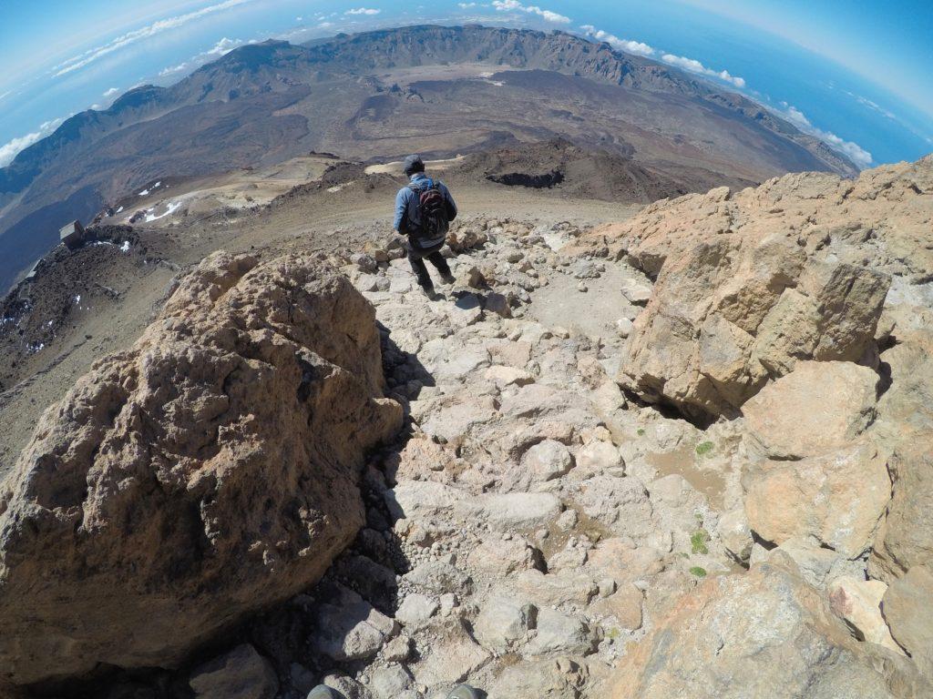 Sestup z El Teide